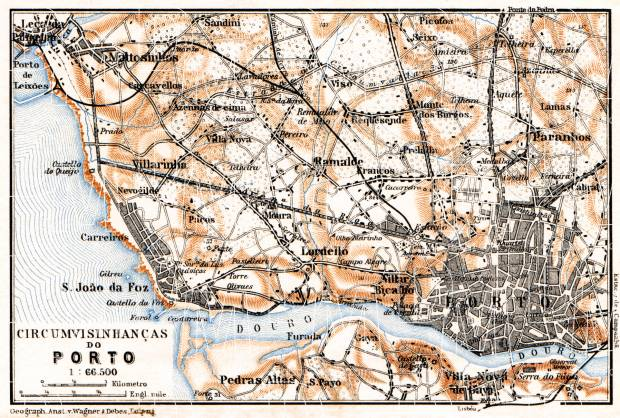 Porto and environs map, 1929. Use the zooming tool to explore in higher level of detail. Obtain as a quality print or high resolution image