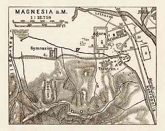 Magnesia on the Maeander, map of the ancient site, 1914