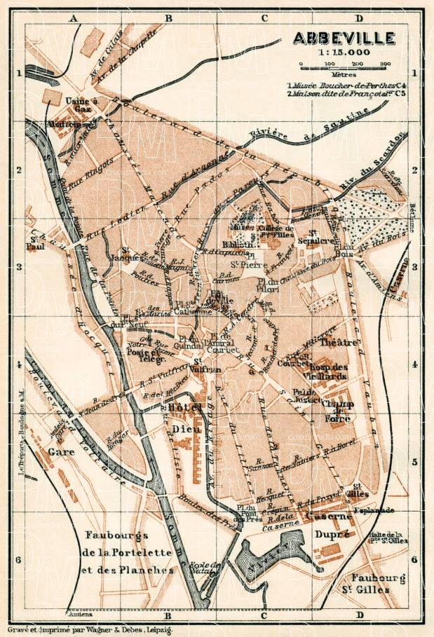 Abbeville city map, 1913. Use the zooming tool to explore in higher level of detail. Obtain as a quality print or high resolution image