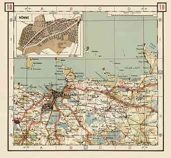 Estonian Road Map, Plate 10: Tallinn. 1938
