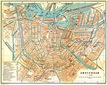 Amsterdam city map, 1904