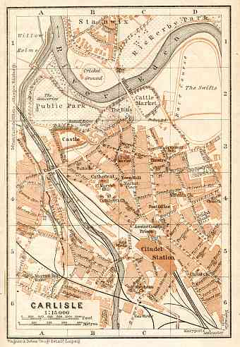 Carlisle city map, 1906