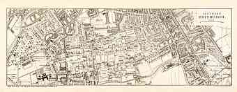 Edinburgh city map, southern part (South Edinburgh), 1908