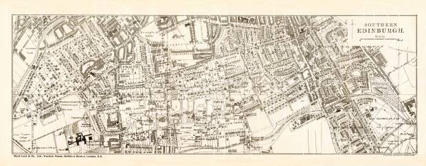 Edinburgh city map, southern part (South Edinburgh), 1908. Use the zooming tool to explore in higher level of detail. Obtain as a quality print or high resolution image