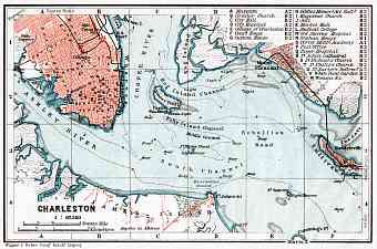 Charleston city map, 1909