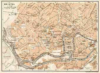 Bristol city map, 1906