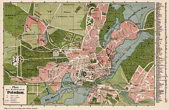 Potsdam city map, 1902