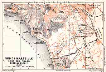 Map of the south suburbs of Marseille, 1913
