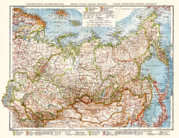 Old map of asian part of the soviet union in 1928 buy vintage map soviet union asian part general map 1928 use the zooming tool to explore publicscrutiny Gallery