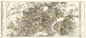 Edinburgh city map, central part, 1908