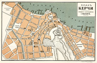 Kerch city map, 1905