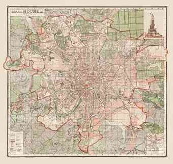 Moscow (Москва, Moskva) city map, 1940
