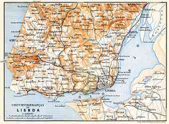 Historical Map Prints Of Lisbon Lisboa In Portugal For Sale And - Portugal historical map