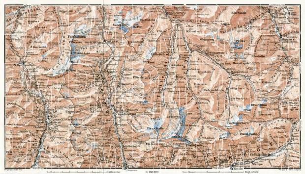 Splügen district map, 1909. Use the zooming tool to explore in higher level of detail. Obtain as a quality print or high resolution image