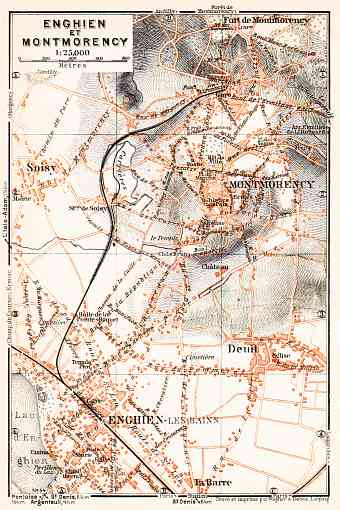 Enghien-les-Bains and Montmorency map, 1931
