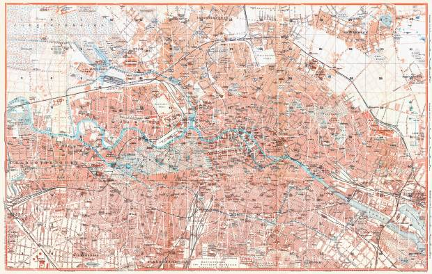 Berlin city map, 1910. Use the zooming tool to explore in higher level of detail. Obtain as a quality print or high resolution image