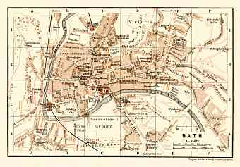 Bath city map, 1906