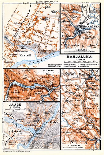Vrbas River Valley from Jaice to Banja Luka, 1929