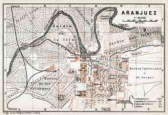 Aranjuez city map, 1913