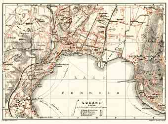 Lugano city map, 1913
