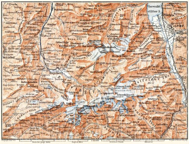 Engelberg and environs map, 1897. Use the zooming tool to explore in higher level of detail. Obtain as a quality print or high resolution image