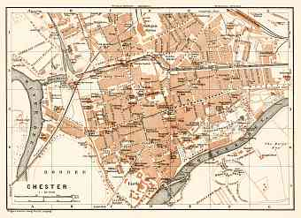 Chester city map, 1906