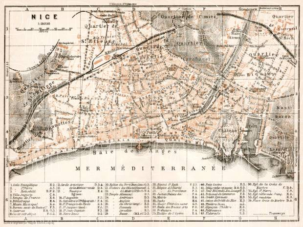 Nice city map, 1902. Use the zooming tool to explore in higher level of detail. Obtain as a quality print or high resolution image