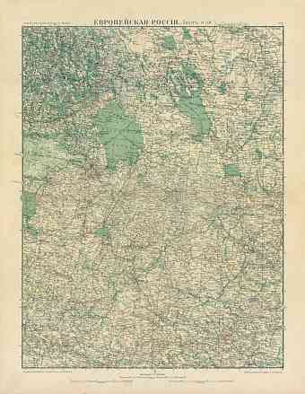 European Russia Map, Plate 6: Northwestern Provinces. 1910