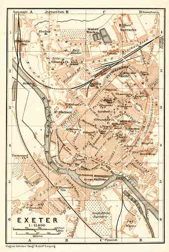 Exeter city map, 1906