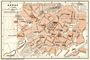 Arras city map, 1909