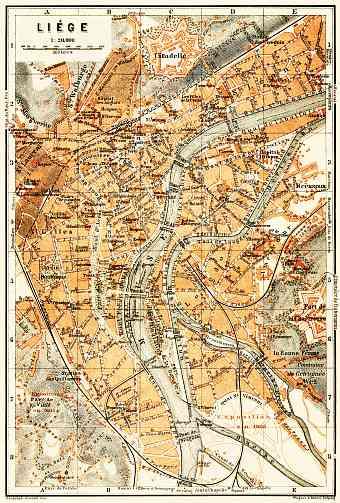 lige lttich city map 1904