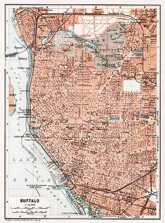 Buffalo city map, 1909