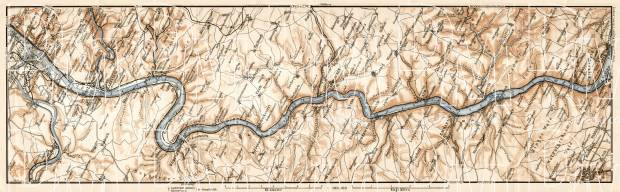 Map of the Course of the Rhine from Coblenz to Bingen, 1906. Use the zooming tool to explore in higher level of detail. Obtain as a quality print or high resolution image