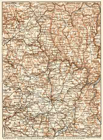 Luxembourg, general map, 1909
