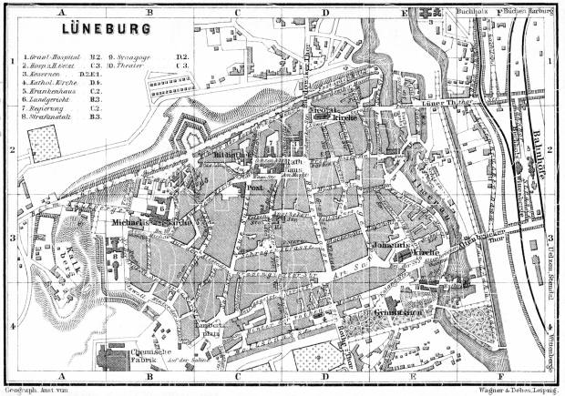 Old Map Of Lüneburg In Buy Vintage Map Replica Poster Print - Luneburg germany map