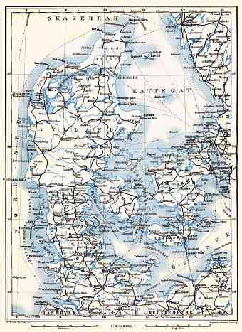 Schleswig and Denmark map, 1910