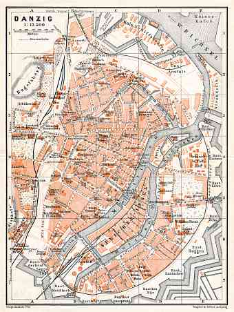 Danzig (Gdańsk) city map, 1906
