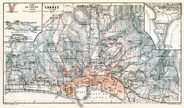 Cannes city map, 1913. Use the zooming tool to explore in higher level of detail. Obtain as a quality print or high resolution image