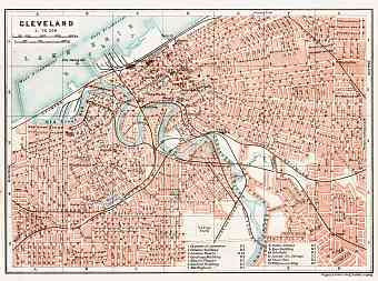 Cleveland city map, 1909