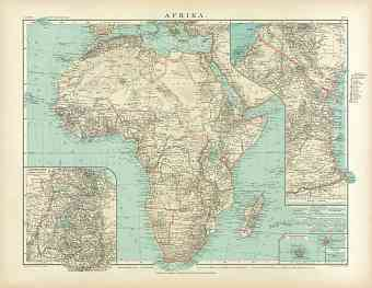 Africa Map, 1905