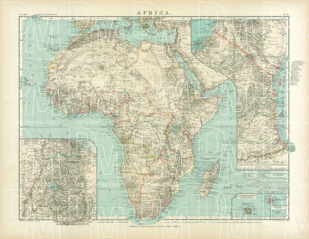 Africa Map, 1905. Use the zooming tool to explore in higher level of detail. Obtain as a quality print or high resolution image
