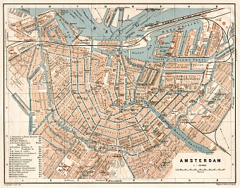 Amsterdam city map, 1909