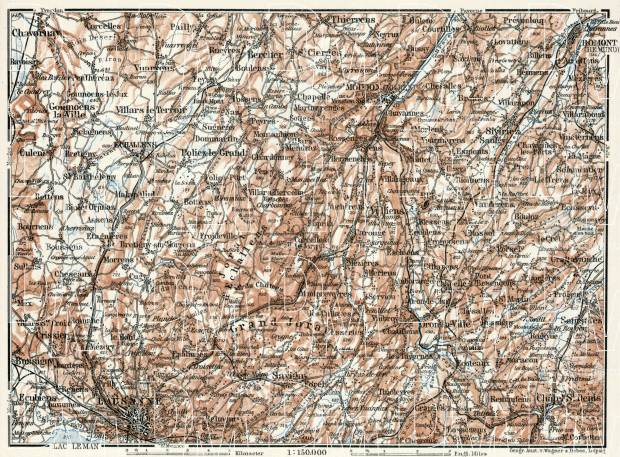 Map of the Northern Vaud, 1909. Use the zooming tool to explore in higher level of detail. Obtain as a quality print or high resolution image