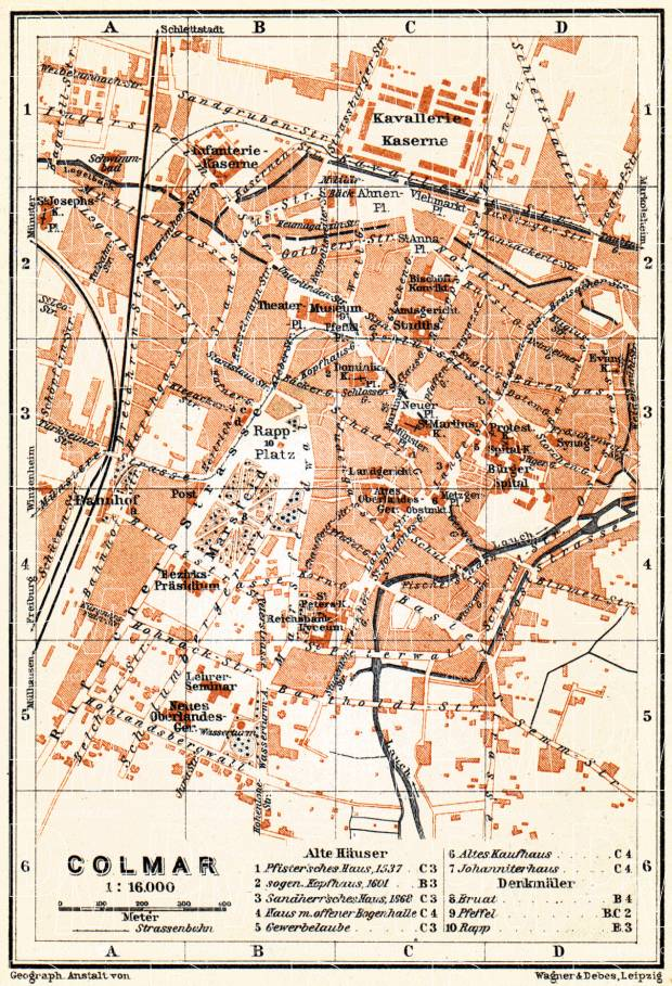 Colmar city map, 1905. Use the zooming tool to explore in higher level of detail. Obtain as a quality print or high resolution image