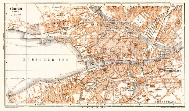 Old map of zrich in 1897 buy vintage map replica poster print or zrich city map 1897 use the zooming tool to explore in higher level of publicscrutiny Gallery