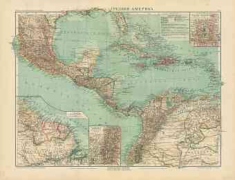 Central America Map (in Russian), 1910
