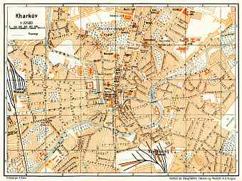 Kharkov (Kharkiv) city map, 1928
