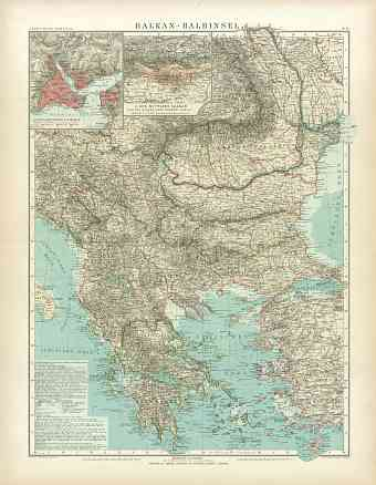Balkan Peninsula Map, 1905