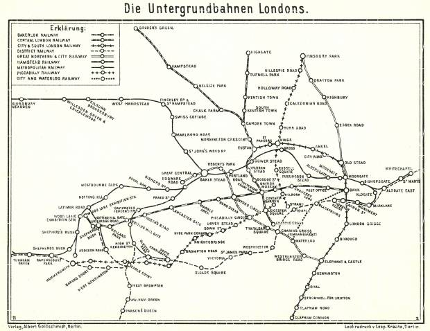 London tube diagram, 1911. Use the zooming tool to explore in higher level of detail. Obtain as a quality print or high resolution image
