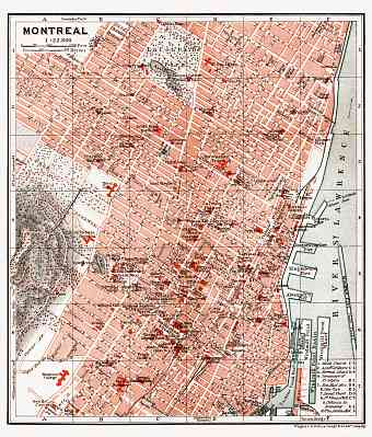 Montreal city map, 1907